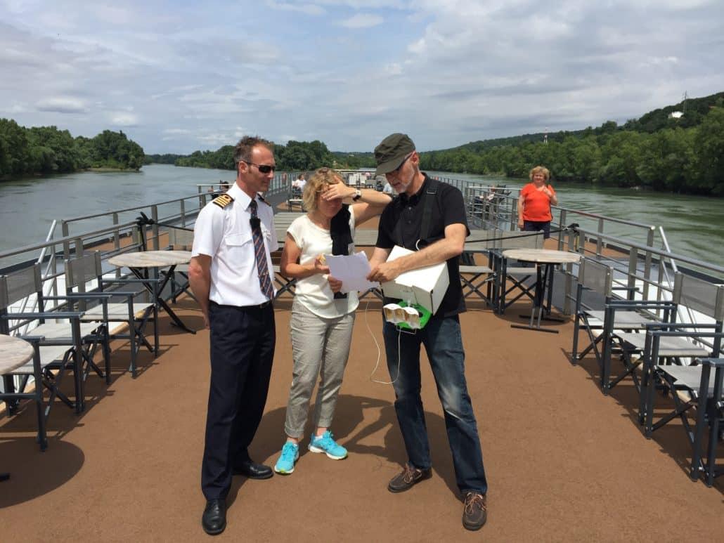 Tournage drone sur bateau en Drome Vaucluse