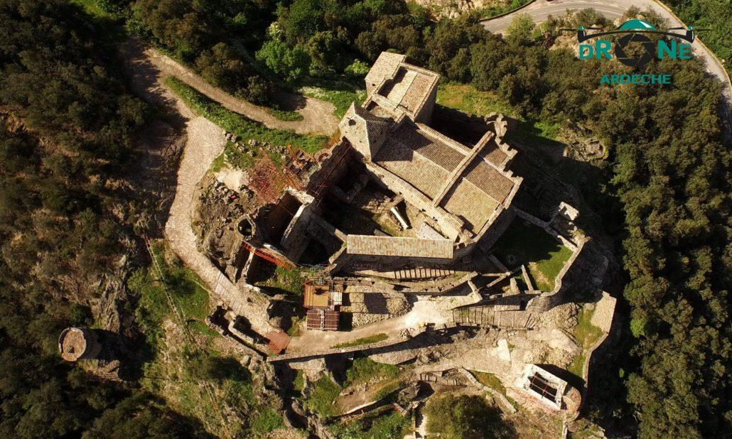 Chateau De Ventadour Par Drone Photo Aerienne Par Drone Du Chateau De Ventadour