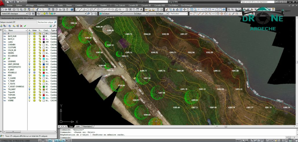 Plan Topo Avec Fond De Plan En Orthophoto Experts Photogrammetrie Experts Topographe Plan Topographique Par Drone
