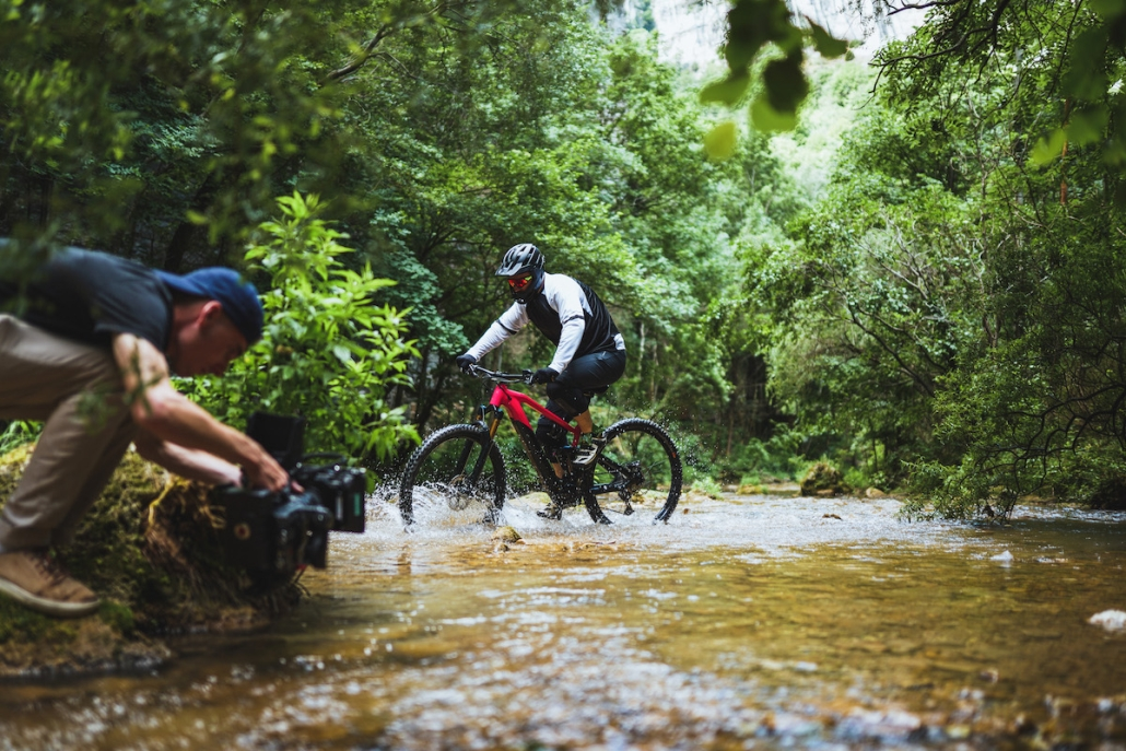 société de vidéo pour filmer du vélo
