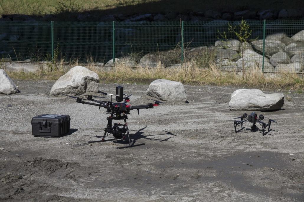 inspection d'ouvrage d'art par drone - solution sélectionnée par ATMB - inspection de viaduc par drone - inspection de pile de pont par drone