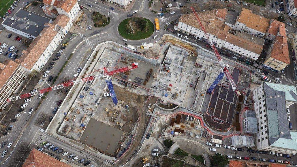 Drone Ardèche photo vidéo prestation chantier ales agglo