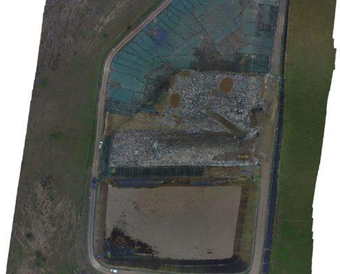orthophoto-georeferencee-geometre-decheterie - photo aérienne par drone - drone prise de vue - Drone pour photogrammétrie