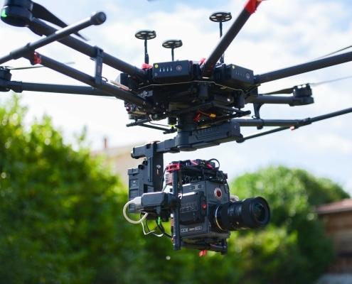 Photo Drone Ardeche Drone RED M600 Homologue Ville Drone Pour Le Cinema Drone Pour Camera RED