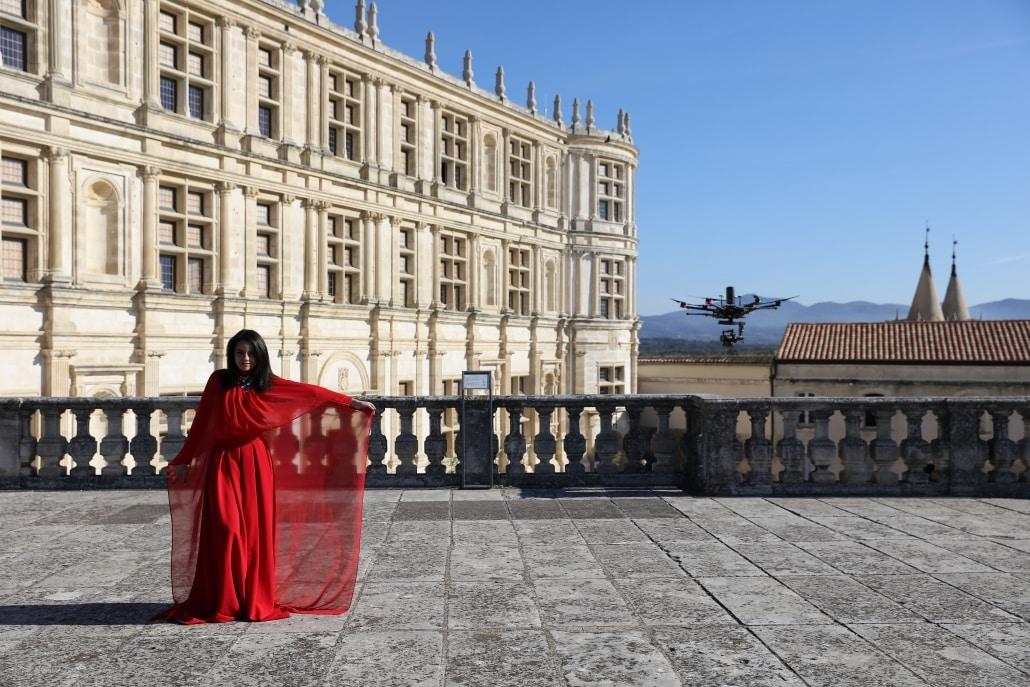 plans aeriens drone ardeche gard vaucluse clip musical chateau de grignan