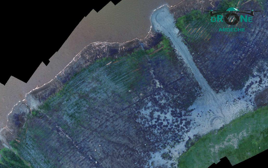 Releve Terrain Lac Drone Ardeche Drome Vaucluse