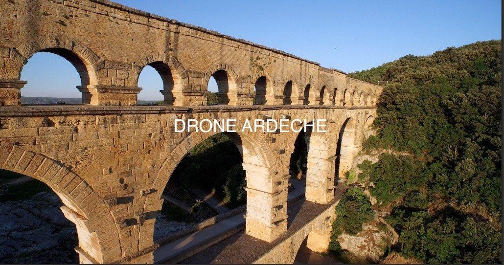 Pont du gard 4K par drone