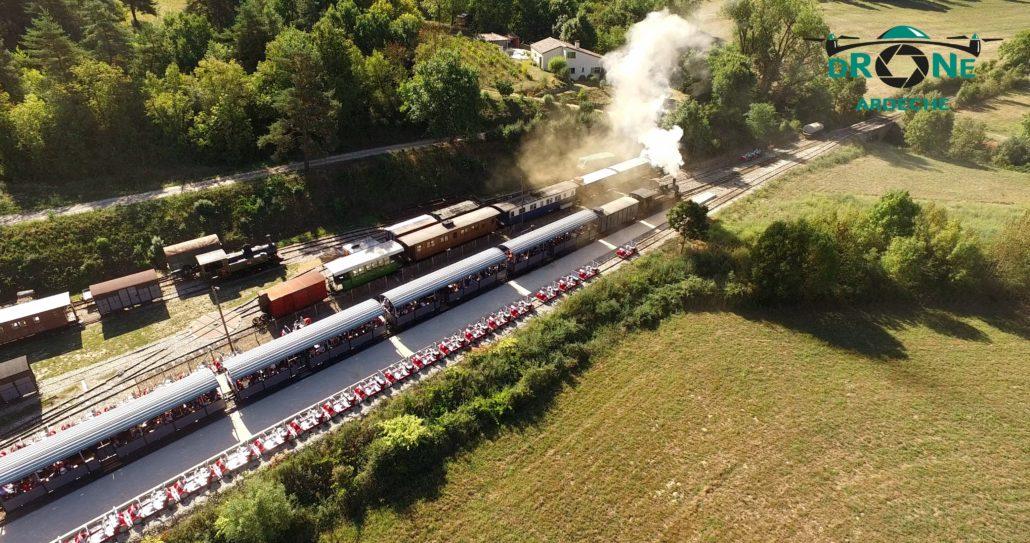 Boucieu Le Roi Train Touristique Prise De Vue Par Drone Ardeche