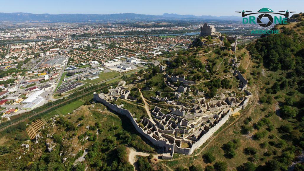 Chateau De Crussol Drone Aerien