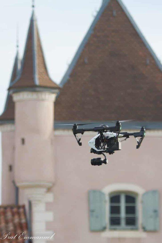dronedji inspire pro maison du parc naturel des monts d'Ardèche