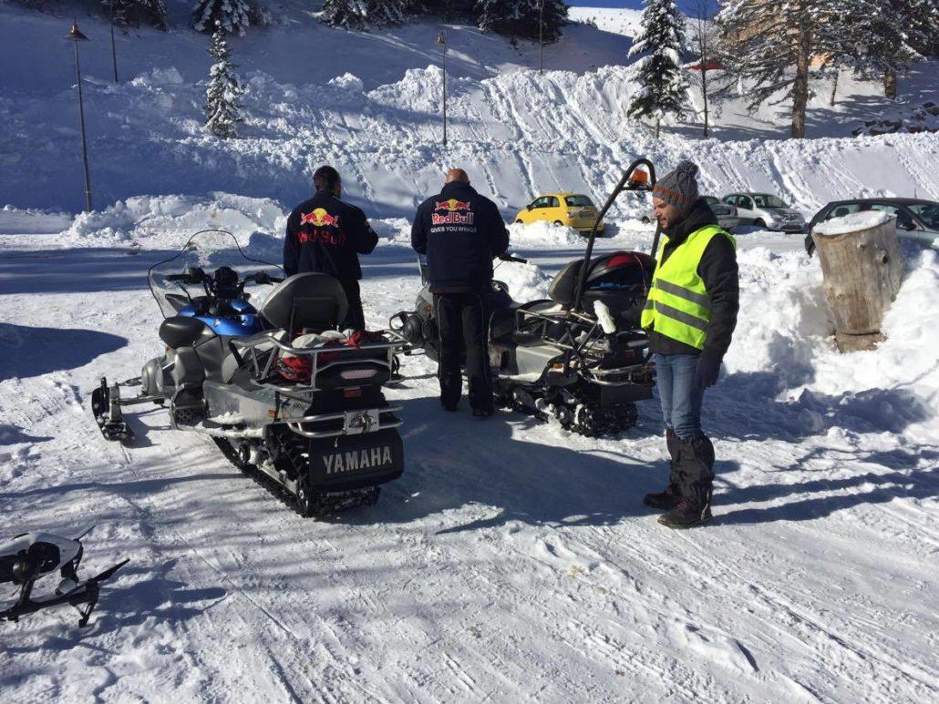 chabanon moto neige drone ardeche vue aérienne drone