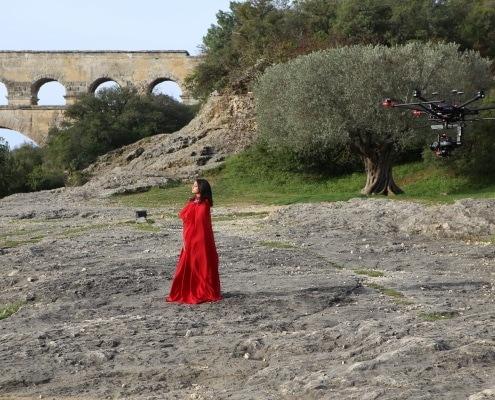 Gros porteur RED Pont du Gard Drone