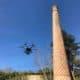 Inspection de cheminée industrielle par drone