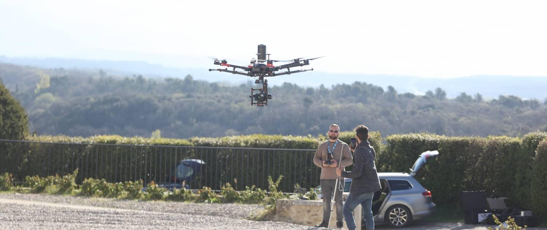 drone chateau de grignan inspire m600 4K