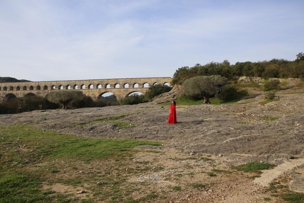 opérateur drone avec expérience et autorisations pour le Pont du Gard