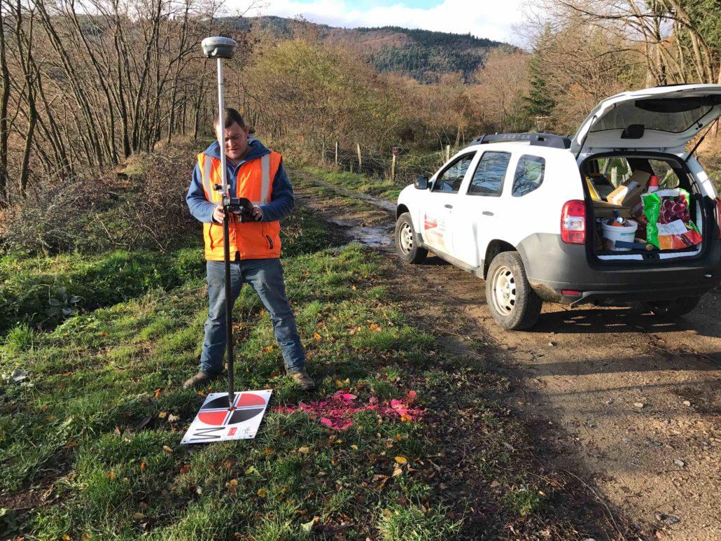 levé topographie geometre photogrammetrie drone | relevé de cibles photogrammétrique