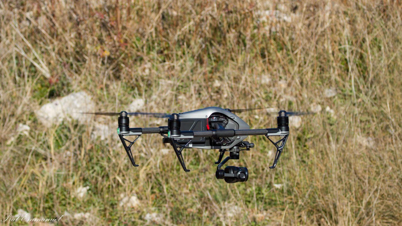 Décollage d'un drone DJI
