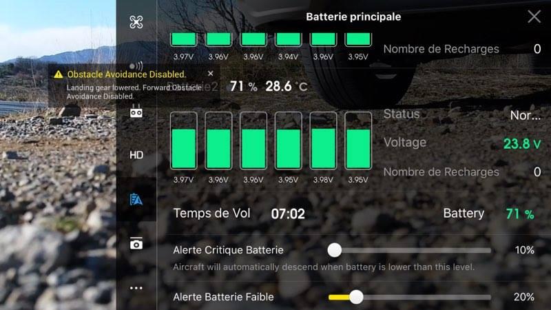 Autonomie du drone Inspire 2