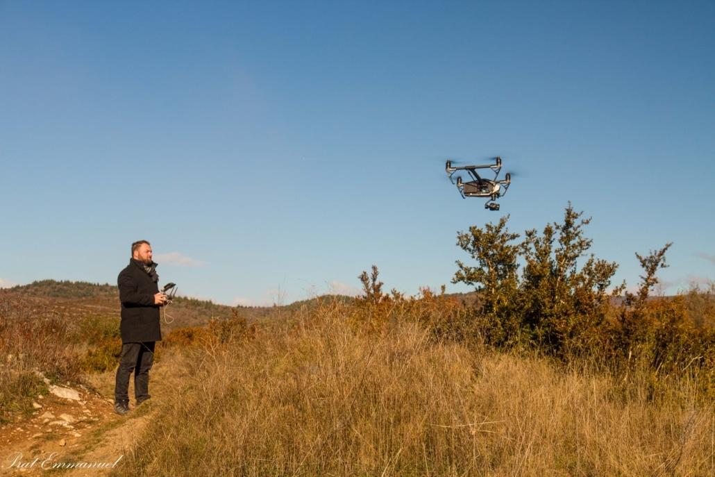 comment réagit le drone Inspire 2 dans le vent ?