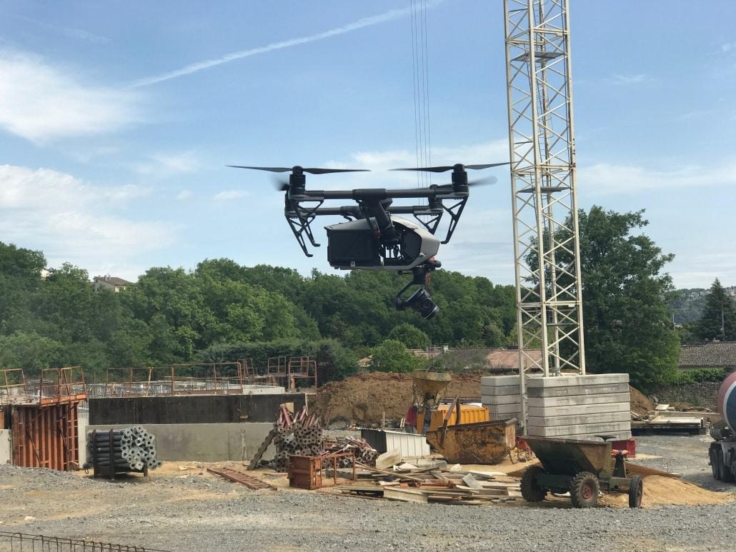 Drone suivi de chantier photo aérienne vidéo aérienne par drone suivi de constructions