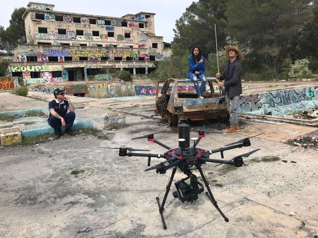 Production audiovisuelle Vaucluse vue aérienne drone