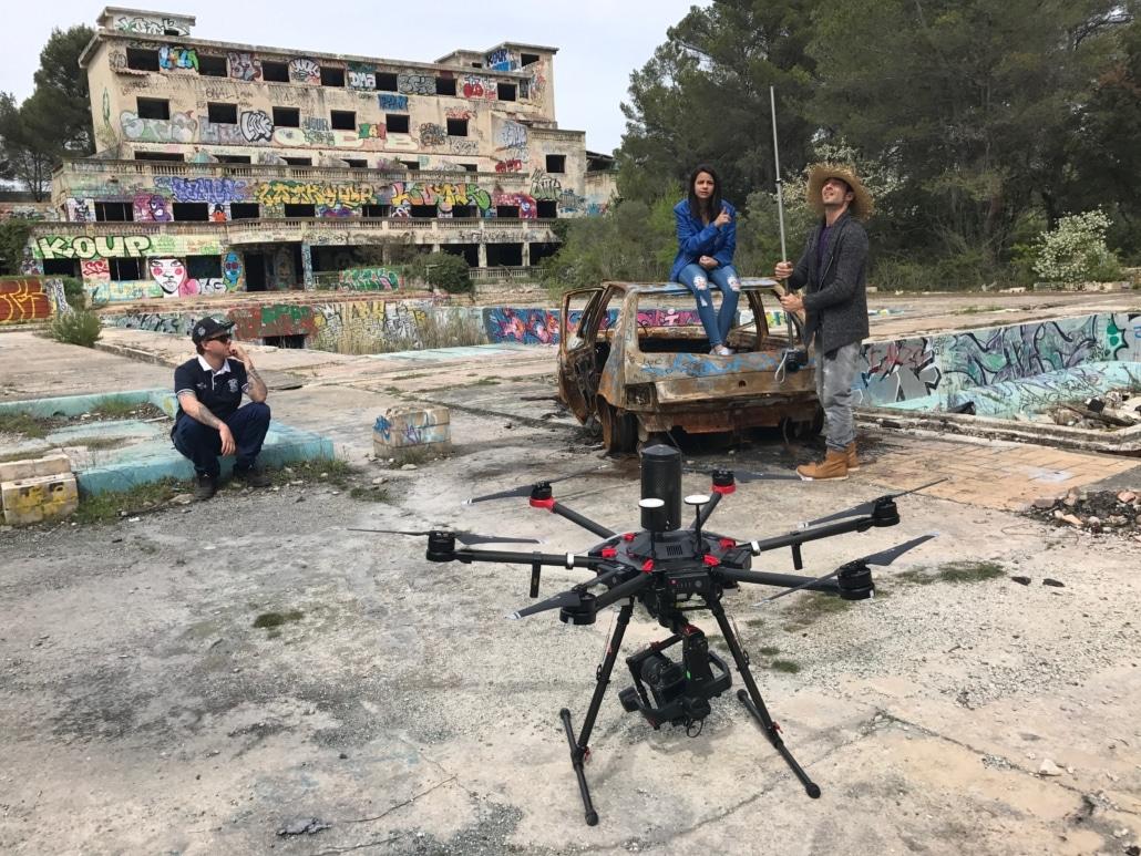 Production audiovisuelle Vaucluse vue aérienne drone