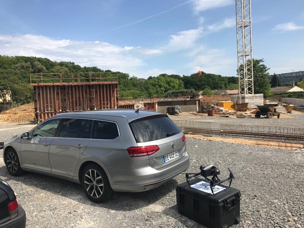 Suivi de chantier Ardèche photographe drone suivi aérien avancement des travaux