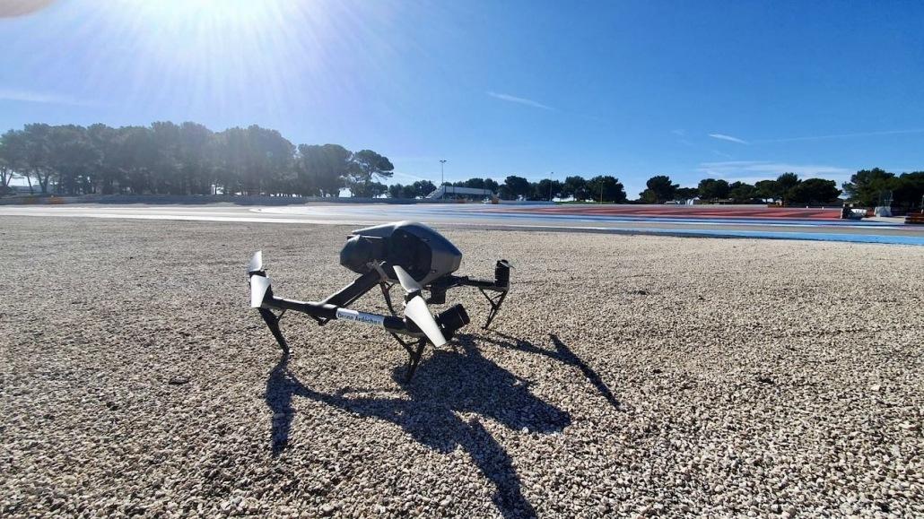 Droniste Circuit Du Castellet Dji Inspire 2 X7 Formule 1 | prestation drone automobile  | mission drone sur circuit automobile