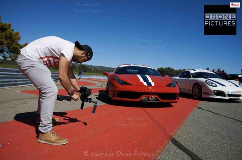 opérateur drone sur le circuit vitesse Paul ricard F1
