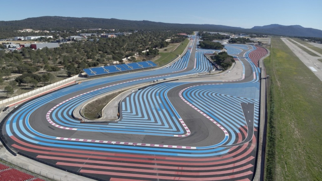 drone operator Le Castellet Tracking F1 | aerial view about racetrack Paul Ricard |