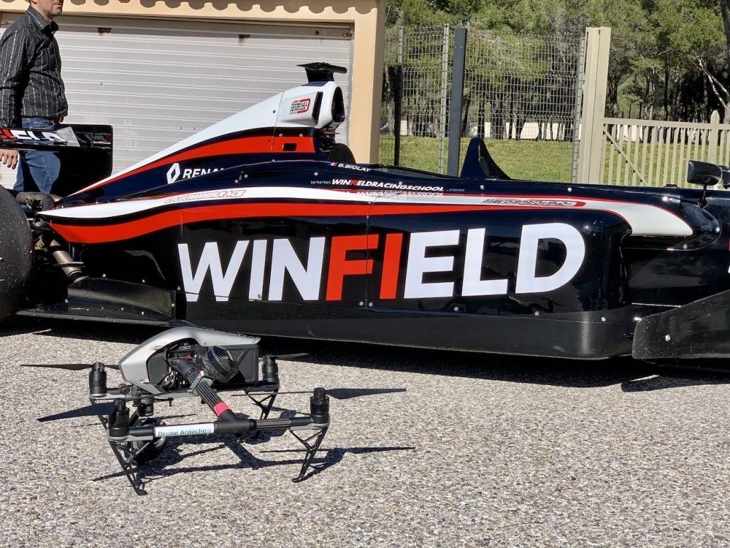 Suivi De Vehicule Formule 1 Sur Circuit Automobile Drone | Prise de vue aérienne circuit du castellet