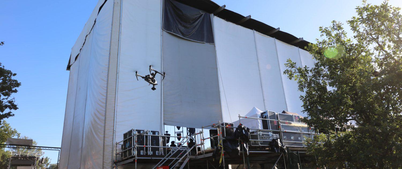 Festival aluna drone 1 ruoms 07 ardèche Télépilote drone Images aériennes d'événement - vidéo par drone - Broadcast par drone