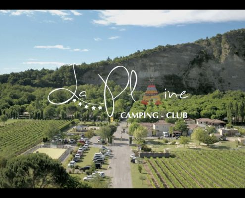 video camping par drone ardeche la plaine yellow village