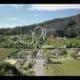 video camping par drone ardeche la plaine yellow village
