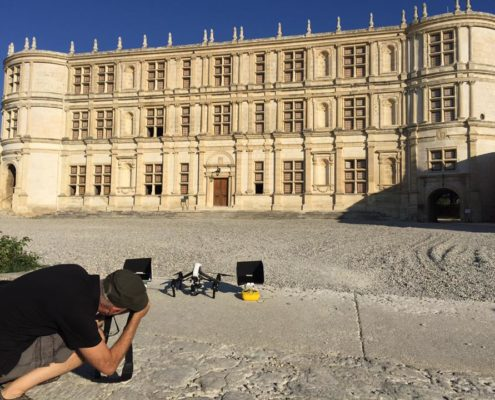 Chateau de grignan par drone Drome Midi en France 3 2