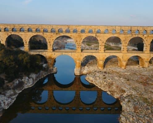 Pont-du-Gard vidéo aérienne - droniste proche du Pont du Gard - Opérateur drone pont du gard - pont du gard par drone
