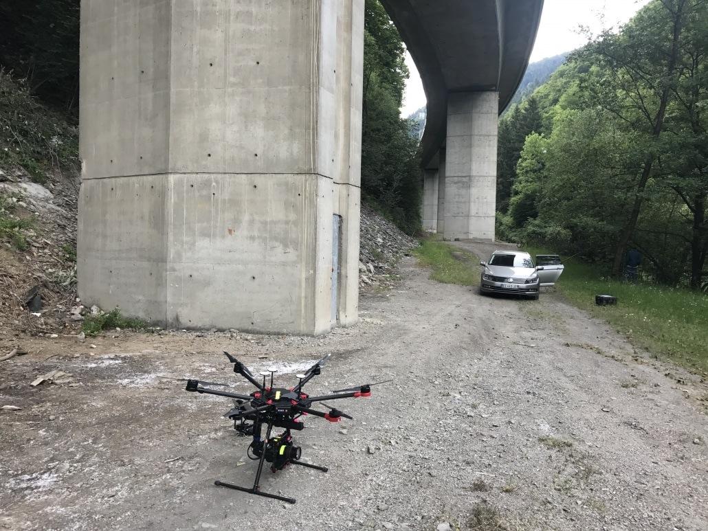 drone triple redondance inspection aérienne