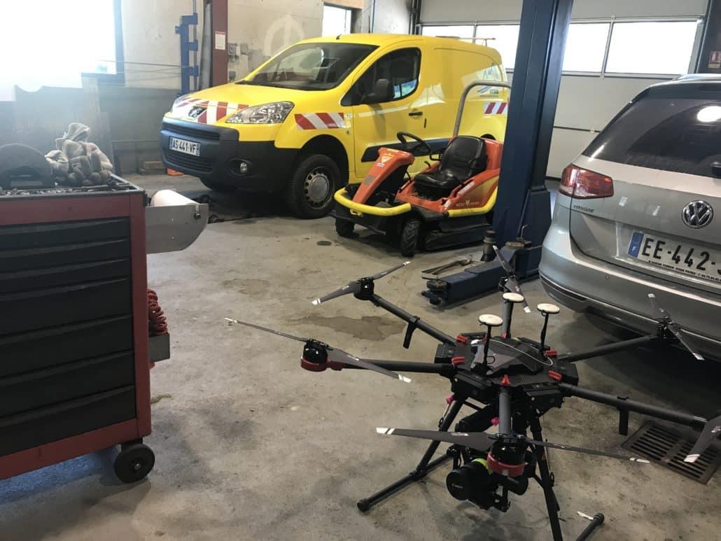 entretien du drone régulier en cours de mission