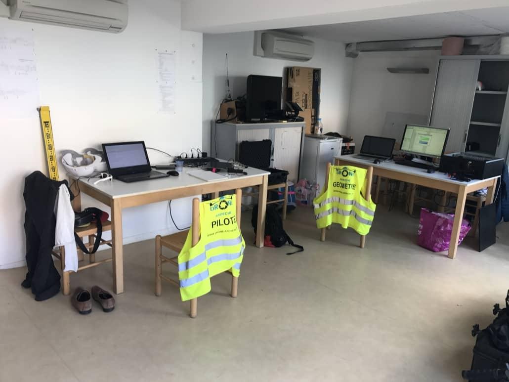 inspection aérienne pré traitement sur place