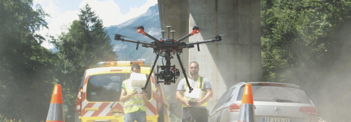 inspection pile de grande hauteur par drone ouvrage d art