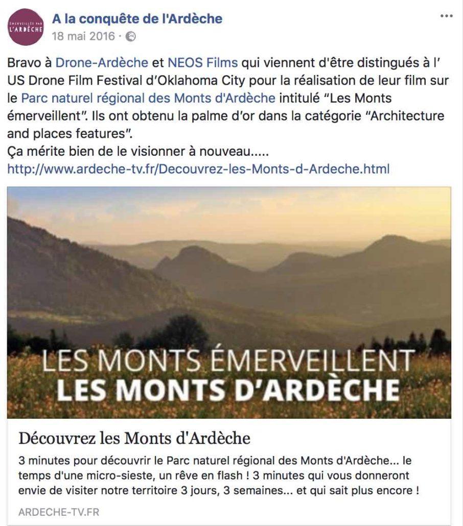 Vidéo drone en rhones alpes Auvergne occitanie