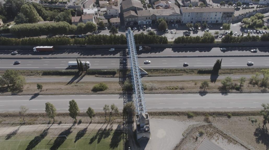 photo drone prise de vue aérienne d'avant projet bourg les Valence