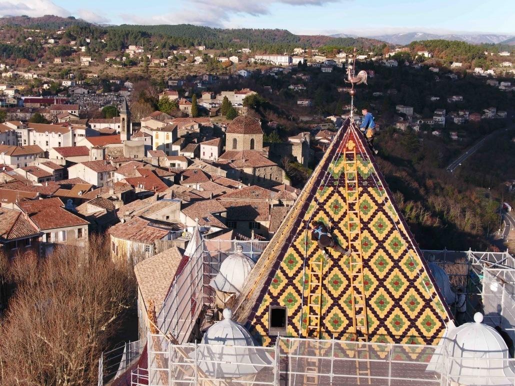 suivi de chantier par drone en Ardèche Aubenas