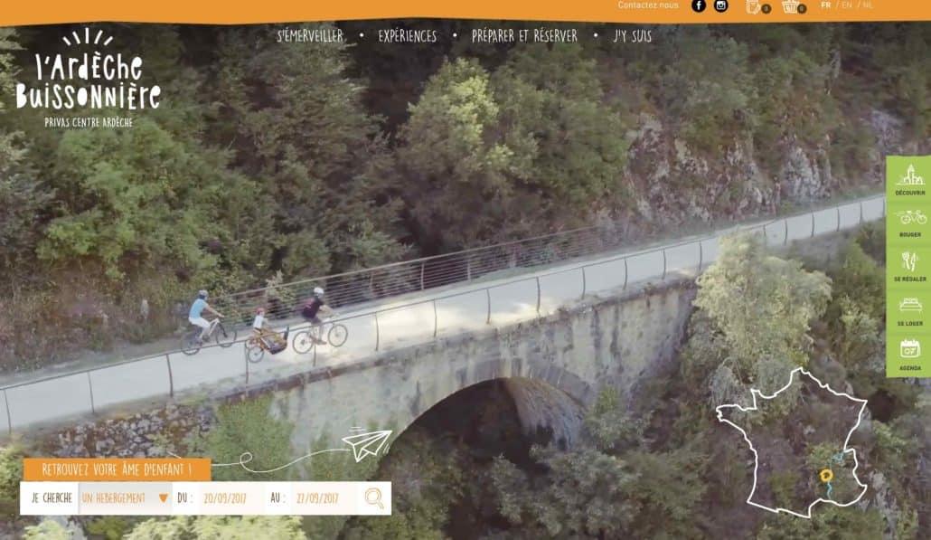 vidéo aérienne de la voie Verte pour l'office de tourisme de Privas