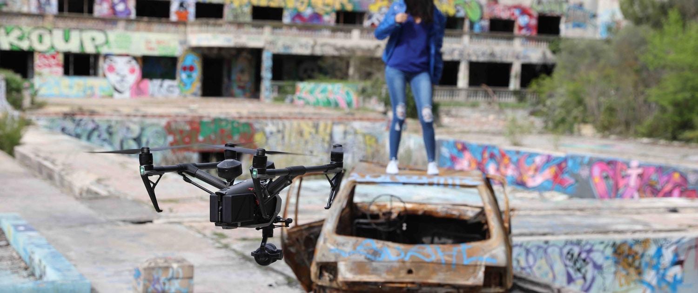 vidéo aérienne à Lisle sur la Sorgue Vaucluse