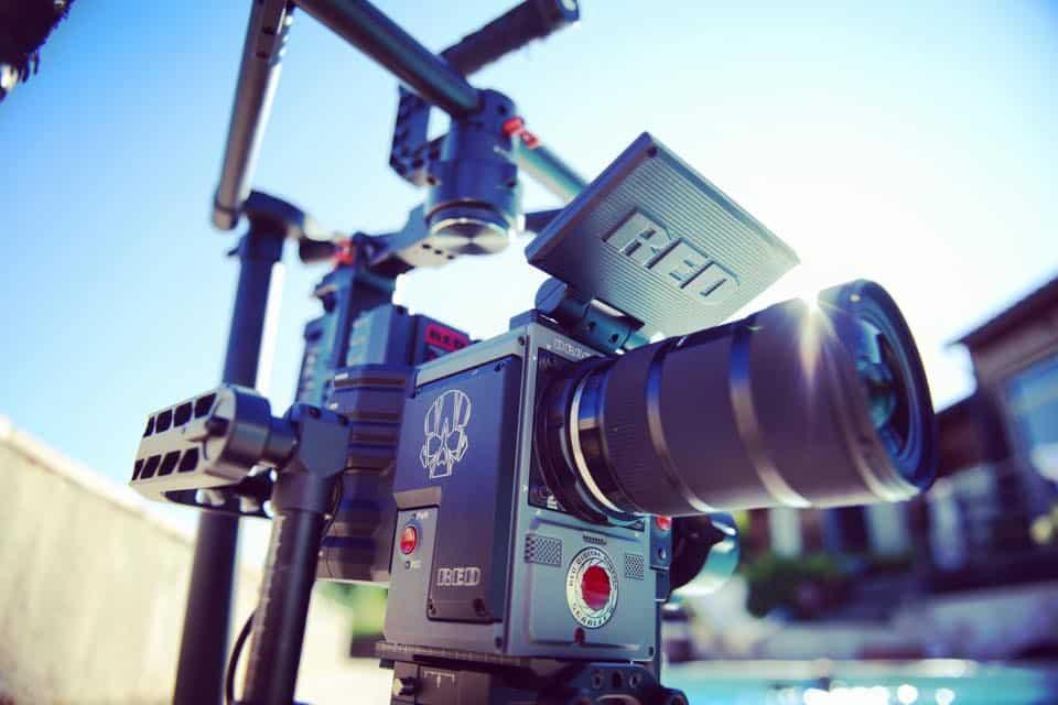 Caméra RED avec chef op