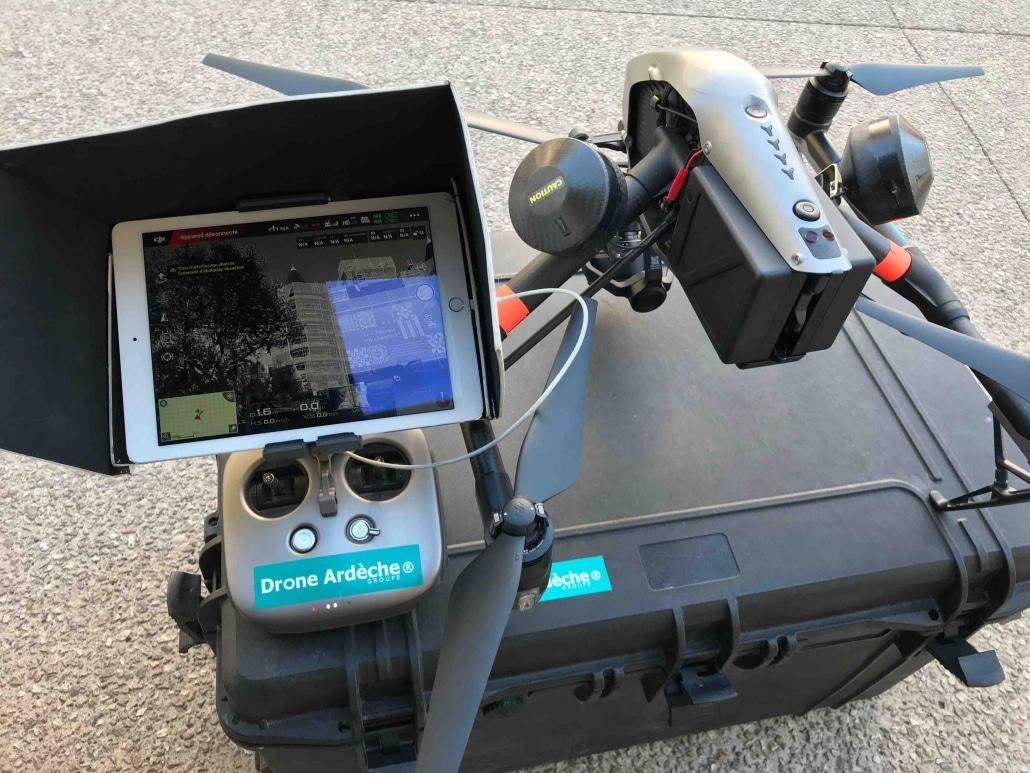 drone homologué pour photos de suivi de chantier en ardeche