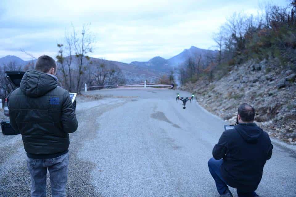 images aériennes pour le WRC