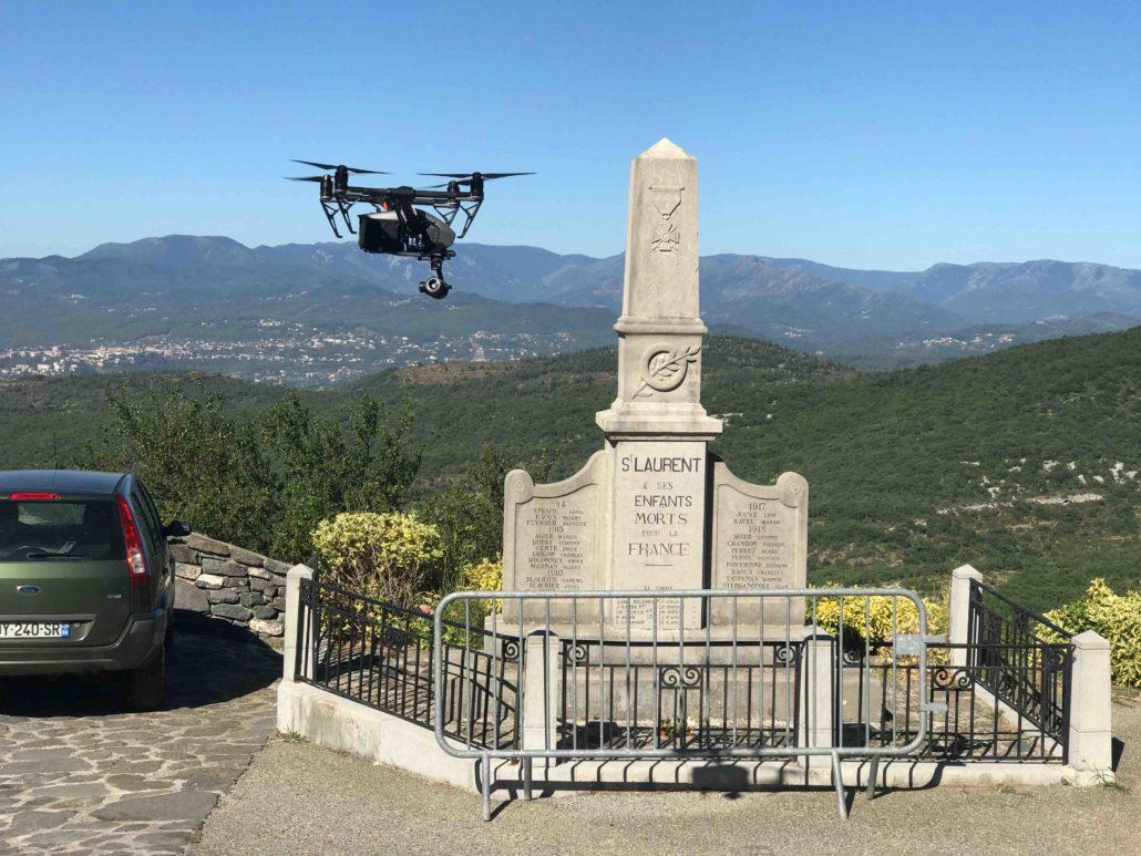 prises de vues aériennes à Valence et Rhones Alpes