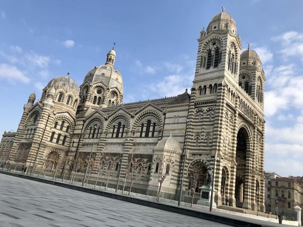 Cathedrale Saint Marie Marseille En Prise De Vue Aérienne
